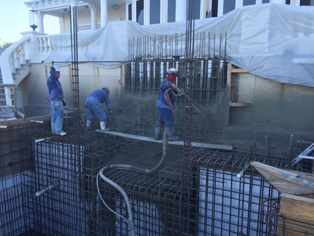 Ryan Hughes Design Build 5 Shotcrete Installation