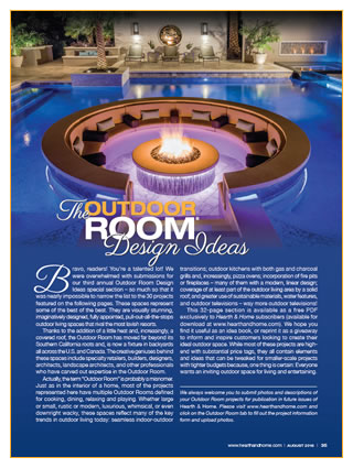 Ryan Hughes Design Headlines Hearth and Homes Magazine Special Issue - The Outdoor Room August 2016