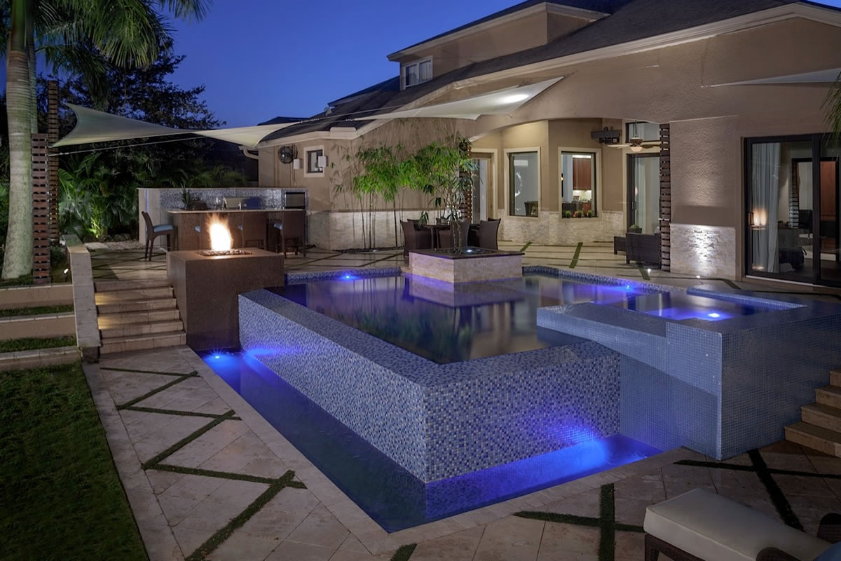 zen spa signature outdoor living spaces project ryan hughes design build. Black Bedroom Furniture Sets. Home Design Ideas